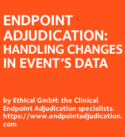 Handling changes in patient data during the Adjudication study: it is not carved in stone