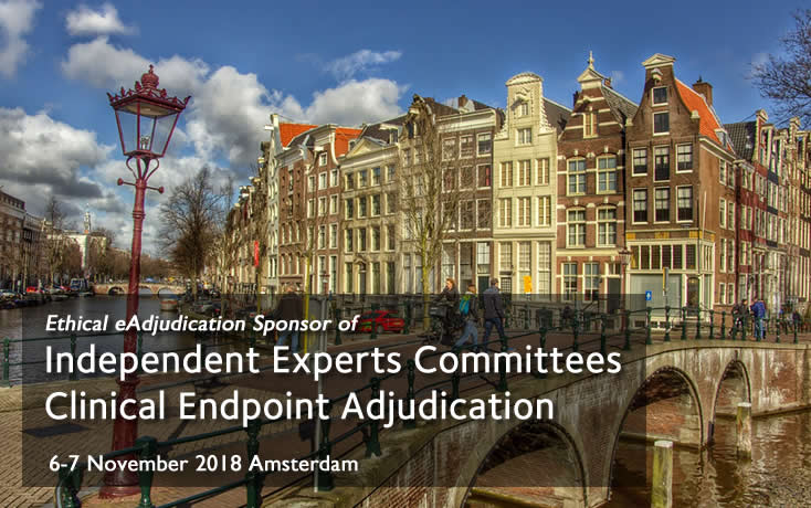 Ethical Sponsor of the first event dedicated to Endpoint Adjudication in Europe.  6-7 November 2018 Amsterdam